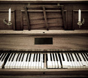 Oude Piano stock afbeelding