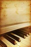 Oude pianostaaf Royalty-vrije Stock Afbeeldingen