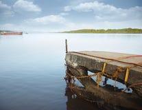 Oude pier Stock Foto