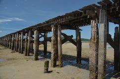 Oude Pier in Thailand nr 2 stock fotografie