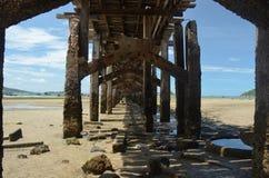 Oude Pier in Thailand nr 1 royalty-vrije stock afbeelding