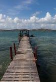 Oude pijler - Meningen rond Curacao Caraïbisch eiland royalty-vrije stock afbeelding