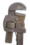 Oude pijpmoersleutel Stock Fotografie