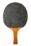 Oude pingpongknuppel (zwarte kant) Stock Fotografie
