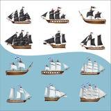 Oude piraatschepen royalty-vrije stock fotografie