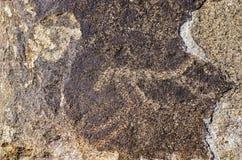 Oude plaats met historische rotstekeningen in Kyrgyzstan royalty-vrije stock foto's