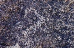 Oude plaats met historische rotstekeningen in Kyrgyzstan royalty-vrije stock afbeelding