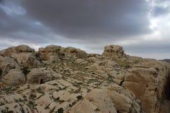 Oude plaats van Edom (Sela) in Jordanië. Stock Afbeelding