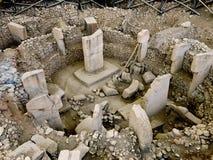 Oude plaats van Göbekli Tepe in Zuidelijk Turkije stock foto