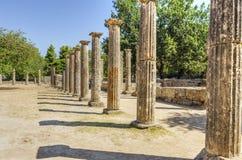Oude plaats van Olympia, Griekenland stock foto's