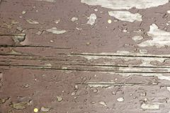 Oude plank in bruine verf stock afbeelding