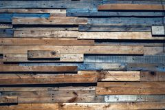 Oude planken van diverse grootte en kleuren royalty-vrije stock afbeelding