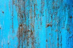 Oude plastic blauwe plaat Royalty-vrije Stock Afbeeldingen