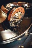 Oude platenspelergrammofoon Stock Afbeelding