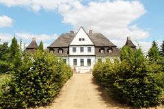 Oude poetsmiddelresidentie - manor royalty-vrije stock foto's