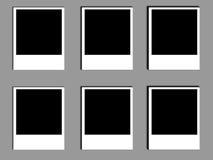 Oude polaroids van de foto Stock Foto