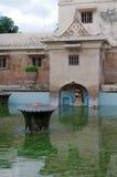 Oude pool bij taman het waterkasteel van Sari - de koninklijke tuin van sultanaat van Jogjakarta Royalty-vrije Stock Foto's