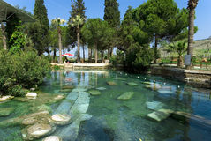 Oude pool in Pamukkale Stock Foto's