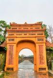 Oude poort bij de Keizerstad in Tint, Vietnam royalty-vrije stock foto