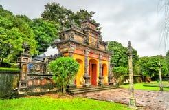 Oude poort bij de Verboden Stad in Tint, Vietnam stock foto's