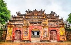 Oude poort bij de Verboden Stad in Tint, Vietnam stock fotografie