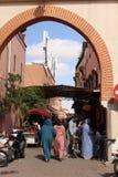 Oude poort in het centrum van Marrakech royalty-vrije stock foto's