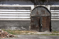 Oude poort - RUW formaat Royalty-vrije Stock Foto