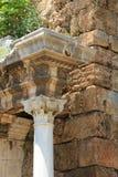 Oude poort van Roman keizer Adrian in Antalya, Turkije stock foto