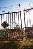 Oude poortdeur Stock Afbeelding