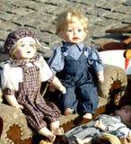 Oude poppen Stock Afbeeldingen