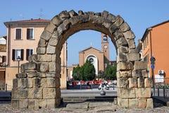 Oude Porta Montanara Rimini Stock Foto