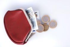 Oude portefeuille en veranderingen Stock Foto