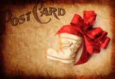 Oude postKerstmiskaart Royalty-vrije Stock Fotografie