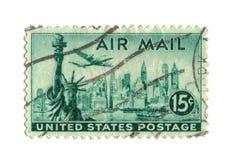 Oude postzegel van de V.S. 15 centen Stock Foto