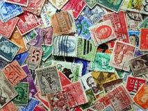 Oude Postzegels Royalty-vrije Stock Afbeeldingen