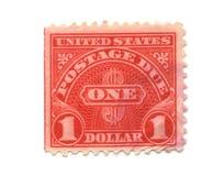 Oude postzegels van de V.S. één Dollar Stock Afbeelding