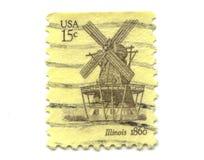Oude postzegels van de V.S. 15 centen Stock Fotografie