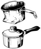 Oude pot - nieuwe pot Royalty-vrije Stock Foto's