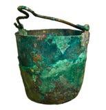 Oude pot van de bronstijd Stock Fotografie