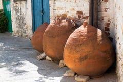 Oude potten van Cyprus Royalty-vrije Stock Foto