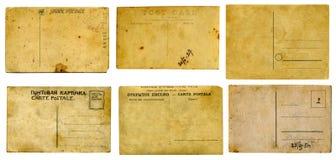 Oude prentbriefkaareninzameling. Stock Afbeeldingen