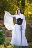 Oude Prinses met zwaard royalty-vrije stock foto