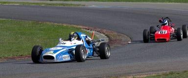 Oude raceauto's op een kring Royalty-vrije Stock Fotografie