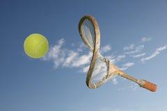 Oude racket Stock Foto