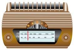 Oude radio. Stock Foto