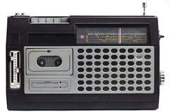Oude radio met antenne Royalty-vrije Stock Afbeeldingen