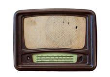 Oude radio vanaf 1950 en de jaren stock fotografie