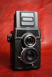 Oude reflexcamera stock fotografie