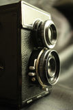 Oude reflexcamera royalty-vrije stock foto