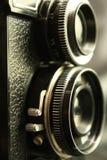 Oude reflexcamera royalty-vrije stock fotografie